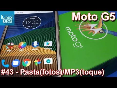 Lenovo Moto G5 - Pasta na galeria de fotos e MP3 como toque padrão