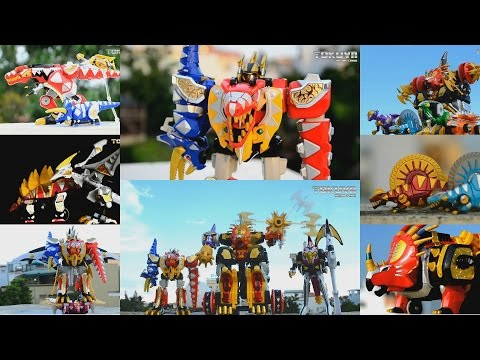 All DX Gattai Bakuryuu Sentai Abaranger 2003! DX 爆竜戦隊アバレンジャー! Power Rangers Dino Thunder Megazord!