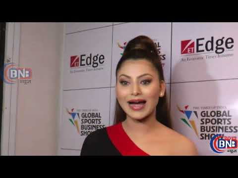 Kaabil Films Actress Uravashi Rautela At Launch Of Global Sports Business Awards Show 2017