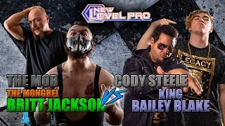 New Level Pro Wrestling - The Mob & Britt Jackson vs. Organization XIII - Tag Team Match