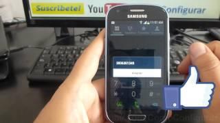 como saber numero de sim card tigo en Samsung Galaxy S3 Mini español Full HD