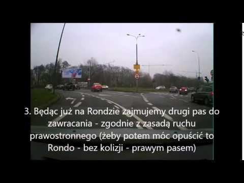 Trasa egzaminacyjna WORD Poznań - Zawracanie na Rondzie Rataje