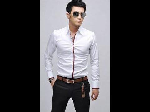 Стильная мужская, классическая рубашка с длинным рукавом