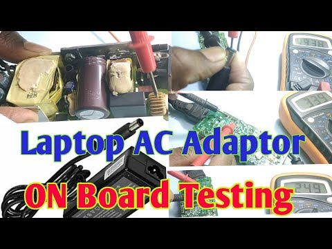 Laptop AC Adapter Power Supply On Board Testing || How To Test Laptop Charger With Multimeter