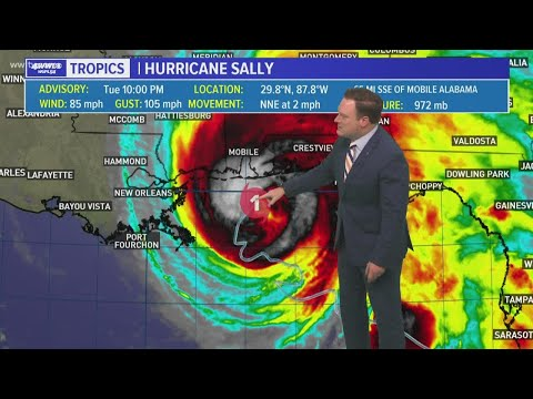Tuesday 10 PM Tropical Update: Hurricane Sally Stalls, Expected To Make Landfall Wednesday