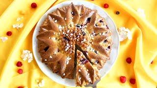 {Recette} Gâteau au yaourt et aux fruits rouges