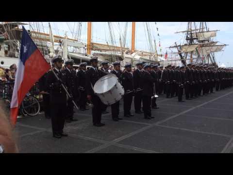 Sail 2015 Amsterdam Banda Marina de Chile parte 2. Chileense marine fanfarekorps deel 2.
