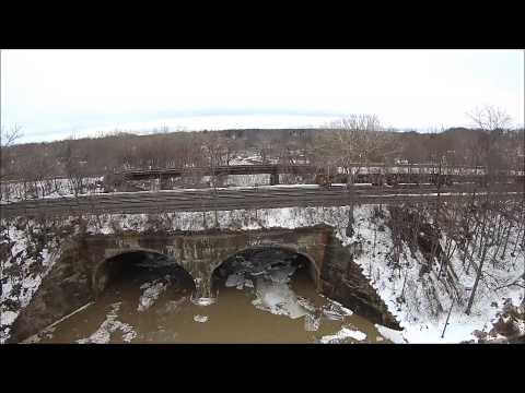 Ice Jam at Silver Creek N Y   3 14 15 Drone Video