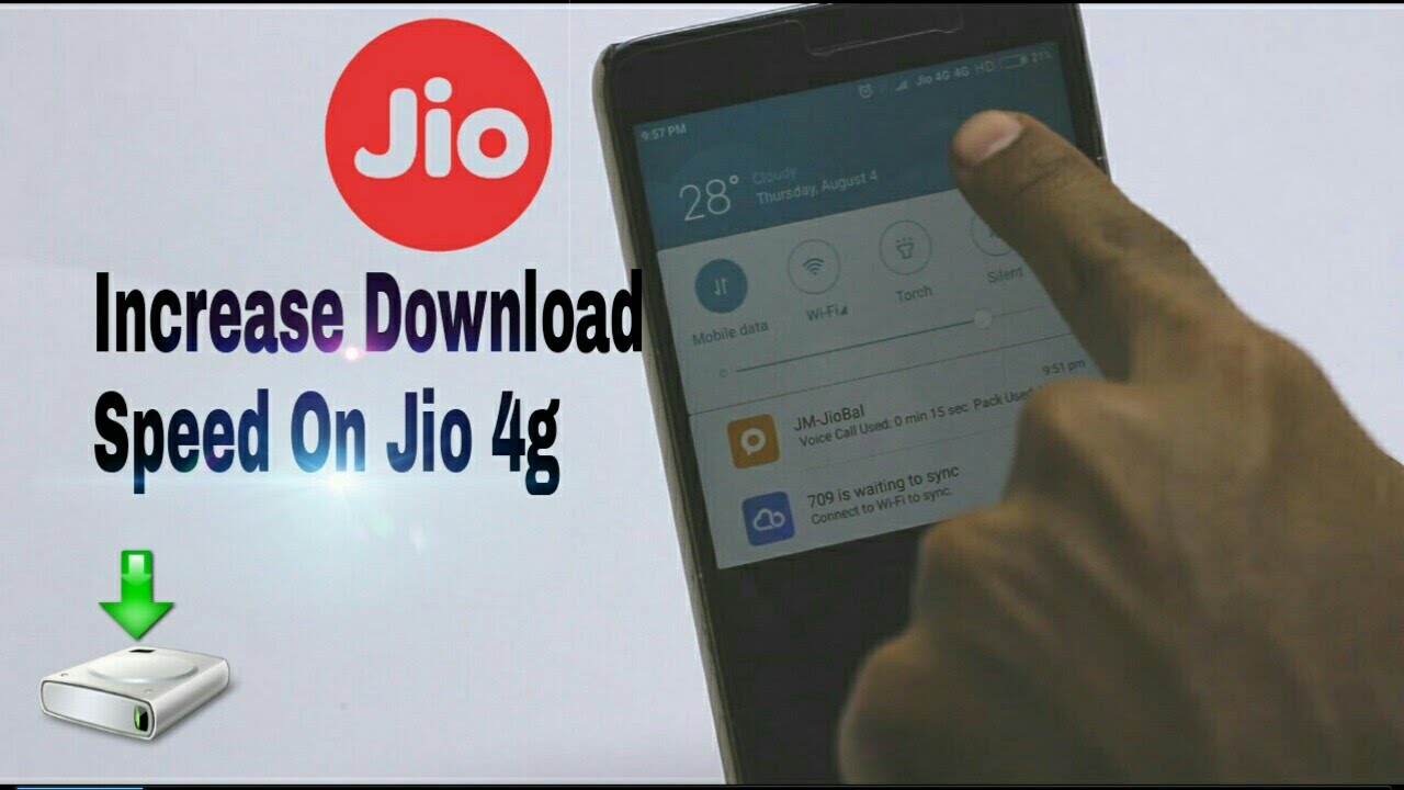 How To Increase Download Speed On Reliance Jio 4G - YouTube