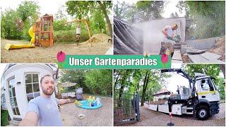 Baustopp 🚫 Holzlieferung & Garten kinderfreundlich machen | Folge 5 | Isabeau