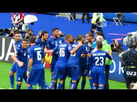 Italy Chiellini goal vs Spain #Euro2016