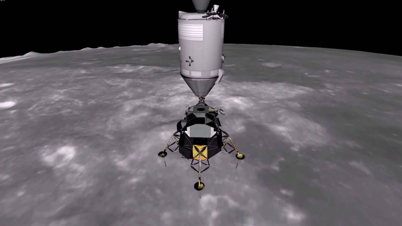 Apollo 12 Undocking Eagle Lander 3D v2.12 - YouTube