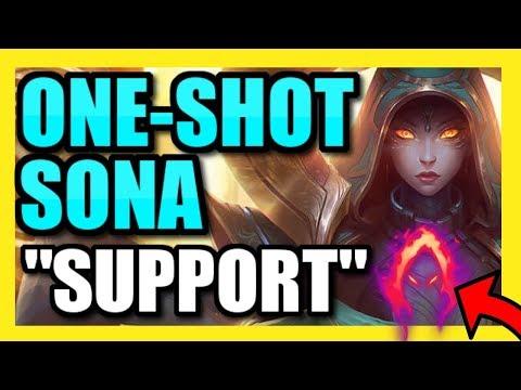 THIS *NEW* ONE-SHOT SONA BUILD IS SURPRISINGLY OP! | Dark Harvest Sona Support Season 9