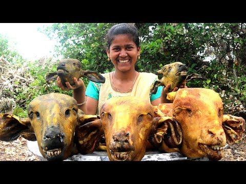 Lamb Head Recipe || Traditional Sheep Head curry By Country foods |మేక తలకాయ కూర