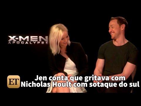 Jennifer Lawrence diz que gritava com Nicholas Hoult com sotaque do sul (legendado)