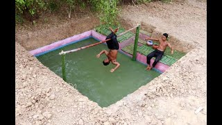 tine tv :  building underground swimming pool & natural gym  .