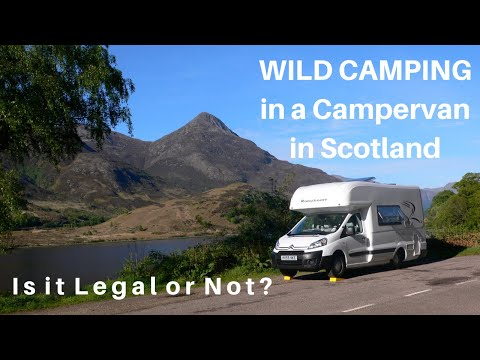 Wild Camping, Or Off-road Camping In Scotland In A Campervan. What Does The Law Say?