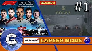 Let's Play F1 2018 Career Mode S2   McLaren Career #1   A NEW PROJECT