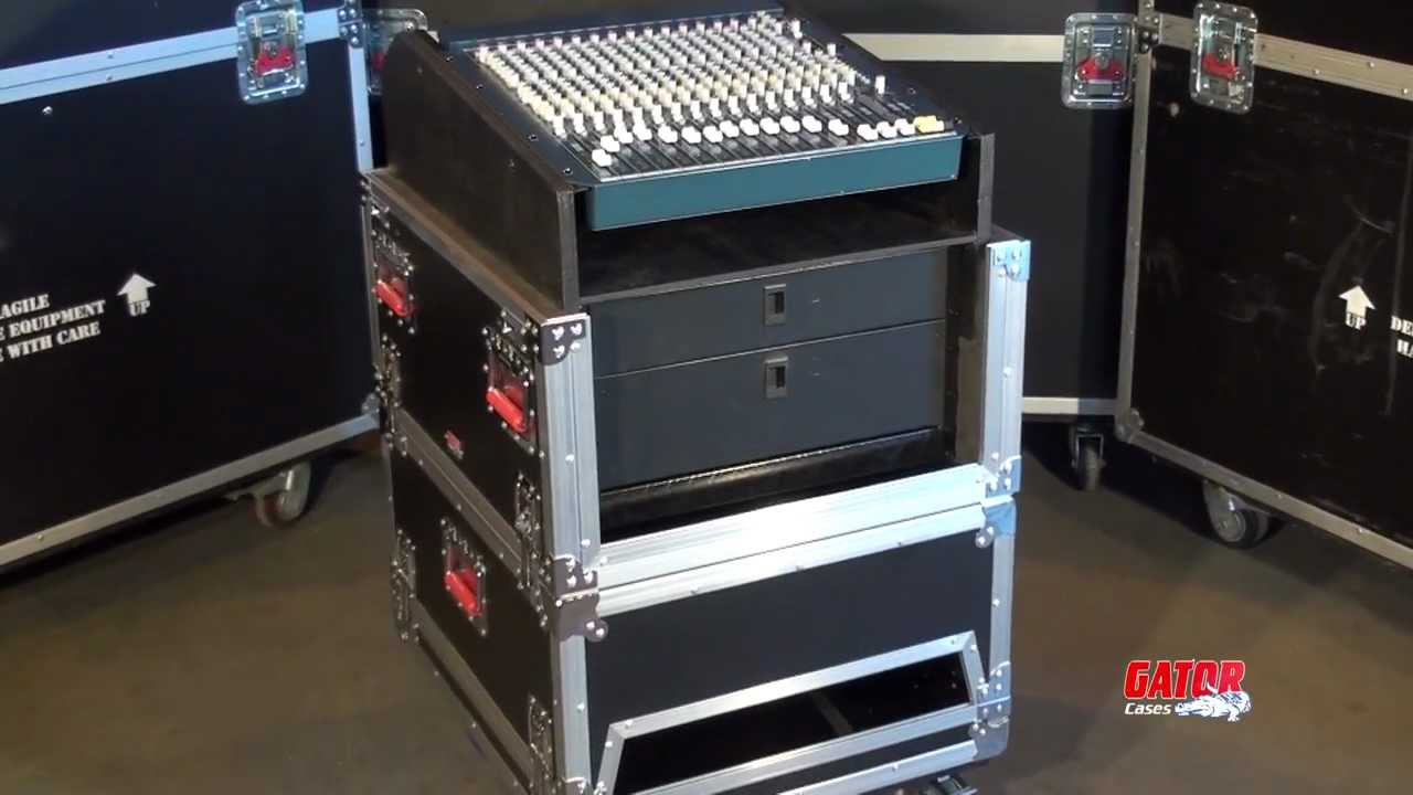 Gator cases g tour grc 1406 console rack case youtube for Homemade rack case