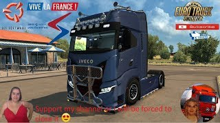 Euro Truck Simulator 2 (1.37)   Iveco S-Way V2.0 By HBB Store Real Interior and More..Test First Look Bordeaux Vive la France DLC by SCS Software + DLC's & Mods Updated to V1.37 Added Animated Windows New Skins Added New Accessories Added 4 New Chassis Op