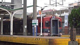 8740次迴送列車通過大林車站(信濃鐵道彩繪列車)