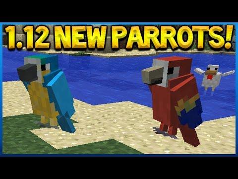 PARROTS COMING TO MINECRAFT!! Minecraft 1.12 NEW Parrot BIRD GAMEPLAY CLIP (Minecraft 1.12)