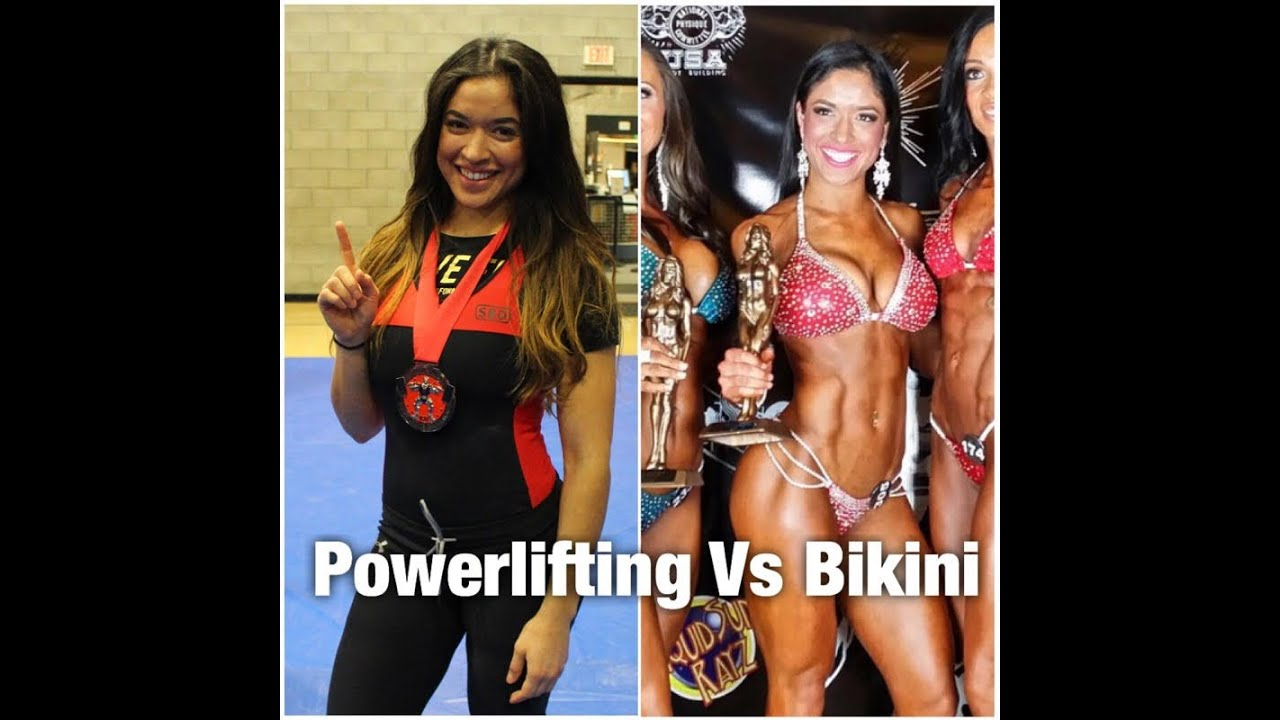The Difference Between Powerlifting And Resistance: The Difference Between Bikini & Powerlifting With Amanda