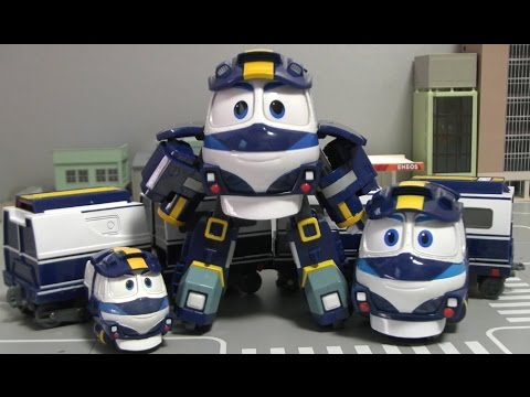 Robot trains veicoli personaggi nuova serie cartoni tv treni treno