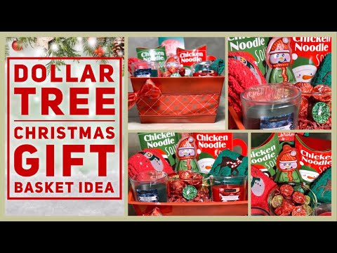 DIY Dollar Tree Holiday Gift Basket - Budget Christmas Gift Ideas 2019 - Cheap & Easy