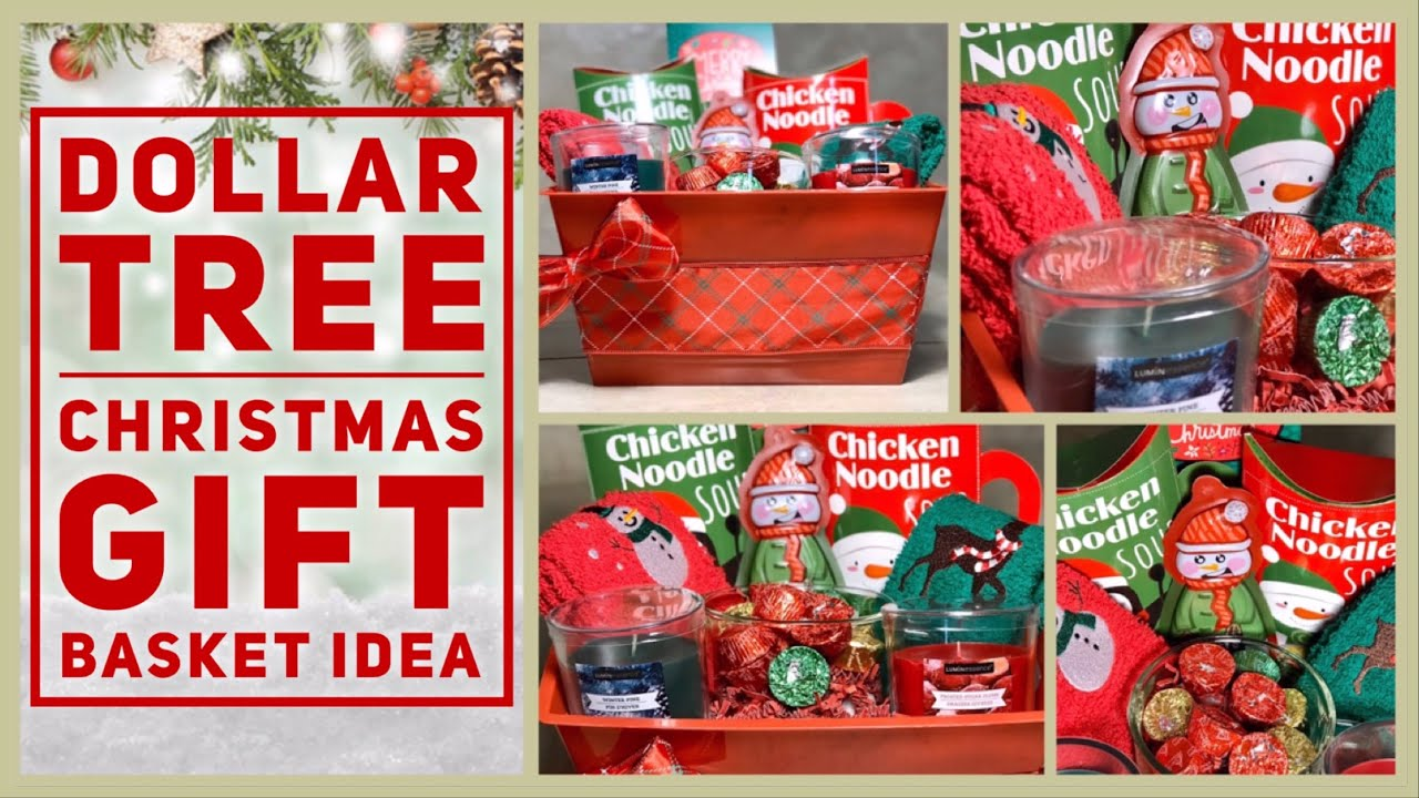 Diy Dollar Tree Holiday Gift Basket Budget Christmas Gift Ideas 2019 Cheap Easy Youtube