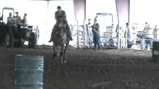 Miranda and Jet doing barrels at Magnolia 4H