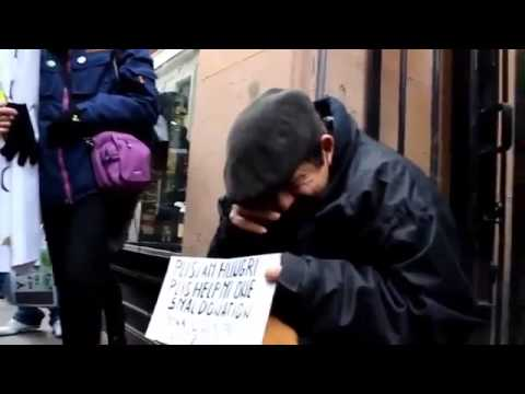 Inspirational Video - Anonymous group help a homeless human