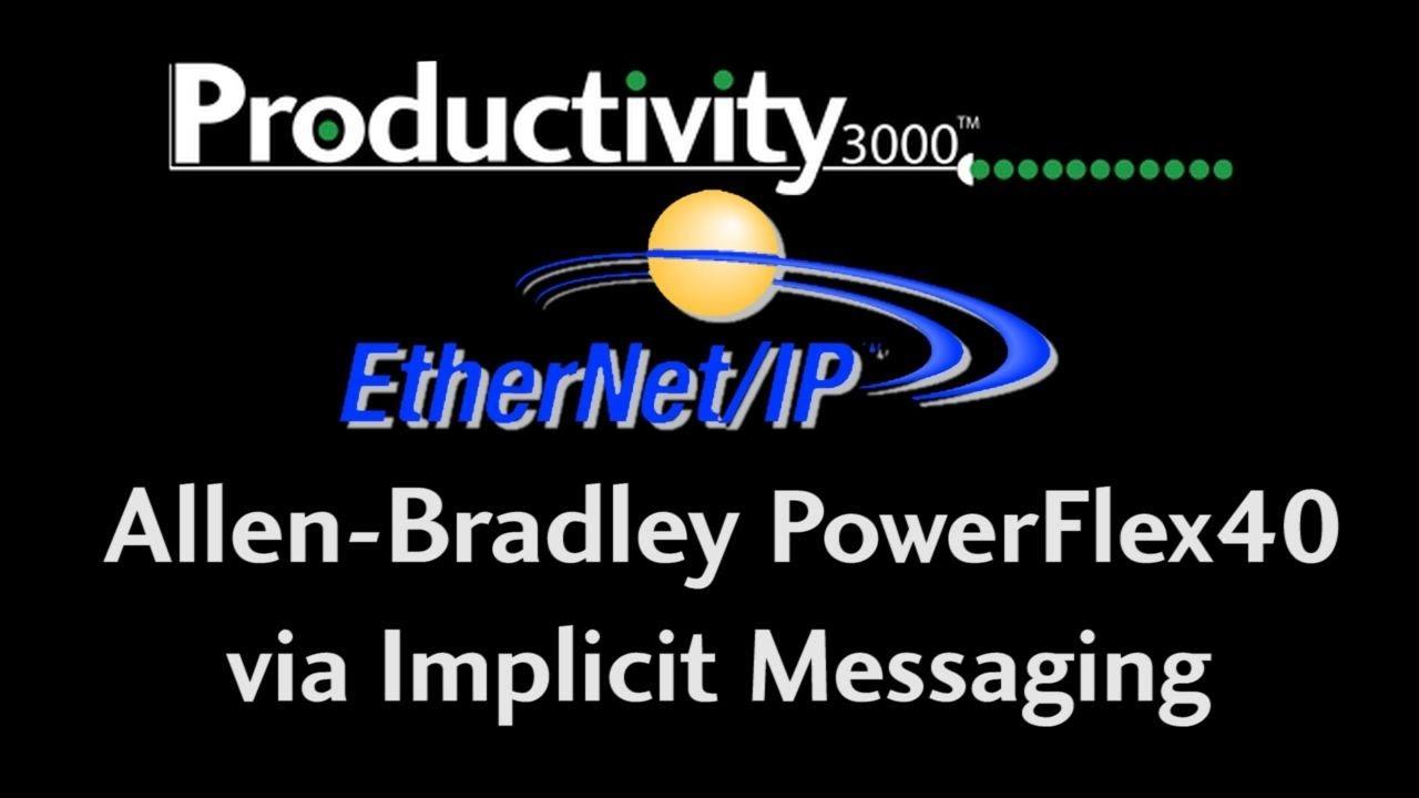 Productivity Series Ethernet Ip With An Allen Bradley Flex Drive Powerflex 40 Wiring Diagram Youtube