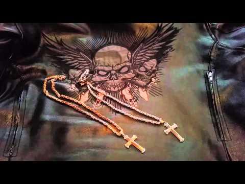 Мужская цепочка с крестом с Aliexpress