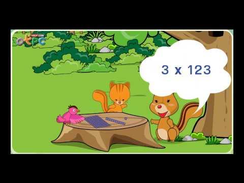 การคูณจำนวนที่มีหนึ่งหลักกับจำนวนที่มีสามหลัก - สื่อการเรียนการสอน คณิตศาสตร์ ป.3