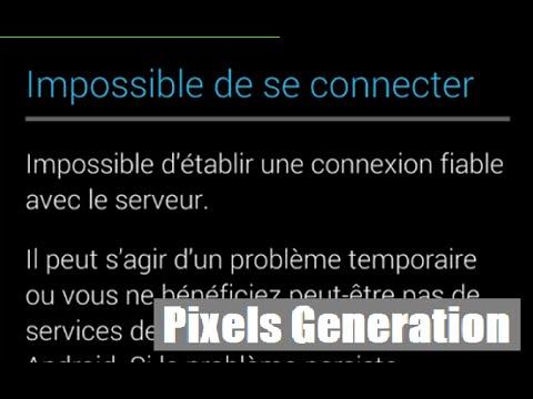 """● Problème Play Store FREEDOM """"Impossible d'établir une connexion...""""- Aucune connexion"""