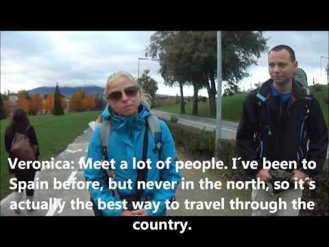 Interview with pilgrims of the Camino de Santiago in the University of Navarra