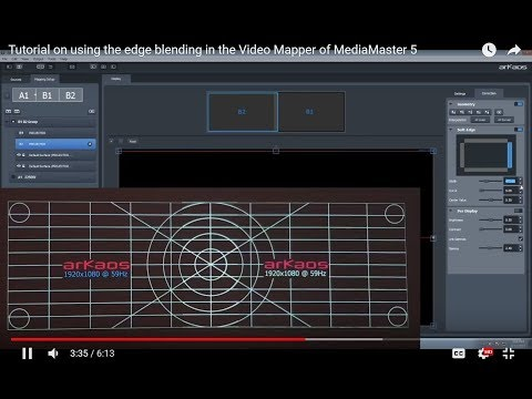 Tutorial on Video Mapper Edge Blending Feature in MediaMaster 5