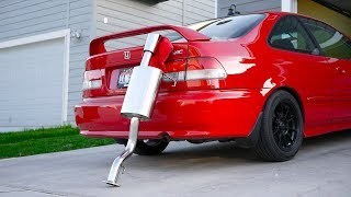 A Honda Civic Exhaust that People WANT to Hear! | Yonaka Motorsports Catback