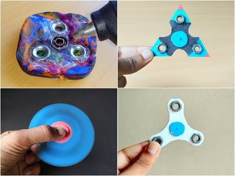 How To Make Fidget Spinner at Home Without Bearings - 5 Compilation