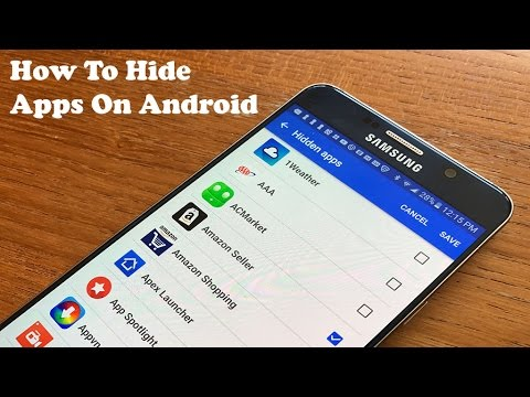 I want to hide apps on my android