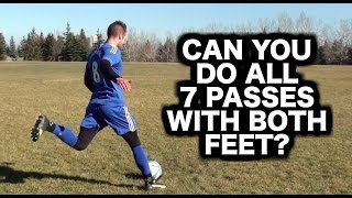 How to kick a soccer ball 7 different ways | How to pass curl curve chip ping a football