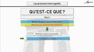 Ouestion type in French qu