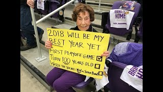 Playoff dreams come true for 99-year-old Vikings fan