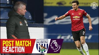 Solskjaer & Maguire react to West Brom draw    West Brom 1-1 Manchester United   Premier League