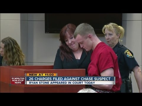 Carjacking, chase suspect Ryan Stone in court
