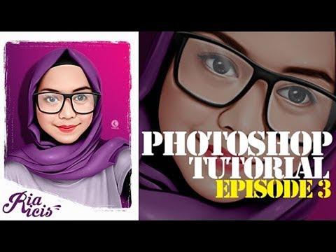EPS#3 PHOTOSHOP TUTORIAL - 3D CARTOON  SMUDGE PAINTING TECHNIQUE ( RIA RICIS ) thumbnail