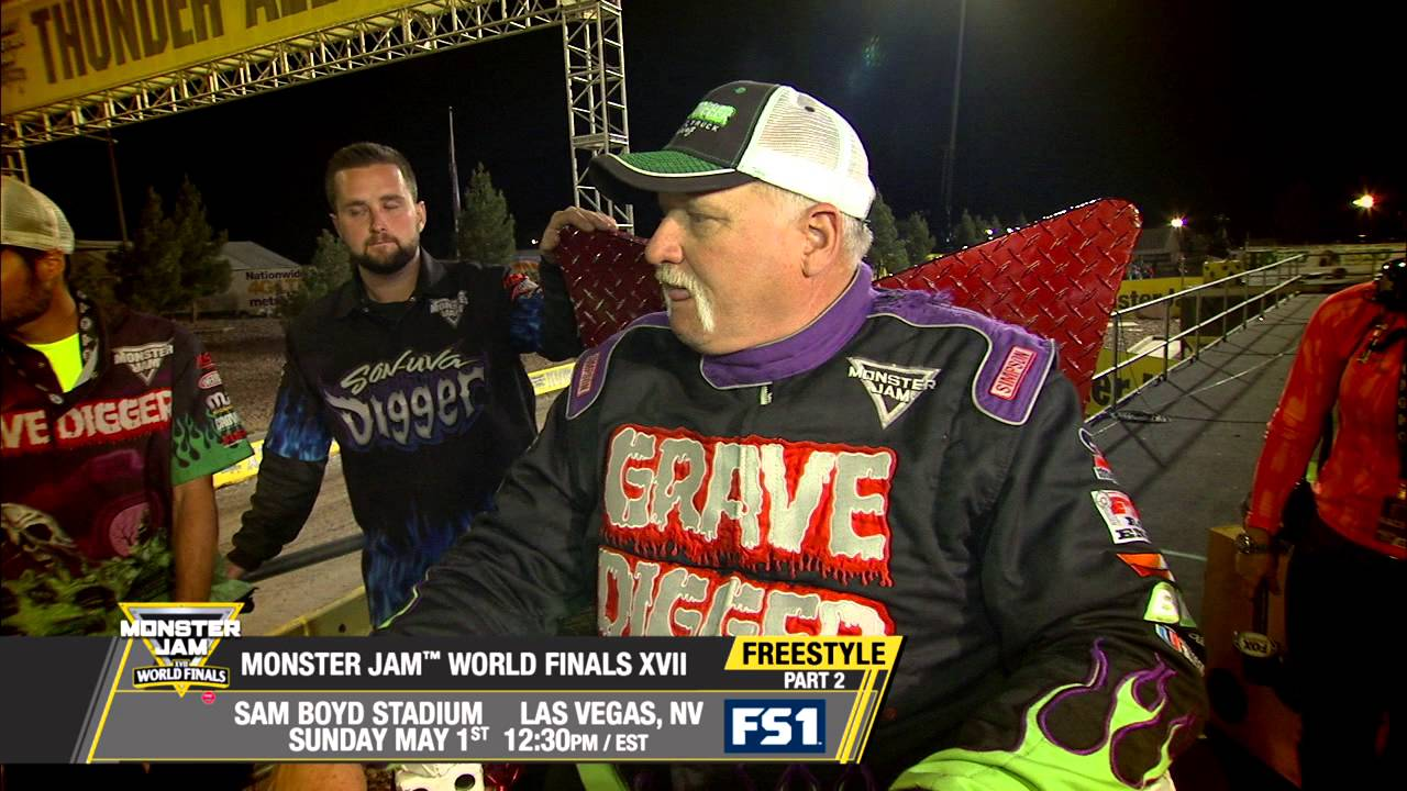 fcf94aa3e76 Monster Jam World Finals Freestyle Part 2 in Las Vegas on FS1 - May ...