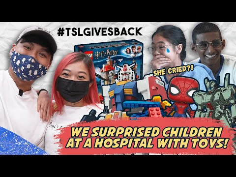 We Surprised Children At A Hospital With Toys! #TSLGivesBack
