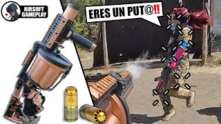 🔞 I DESTROY my GIRLFRIEND with a GRENADE LAUNCHER❗️ 😱 ▬ She GETS ANGRY 🤬 ▬ Airsoft Gameplay 💥